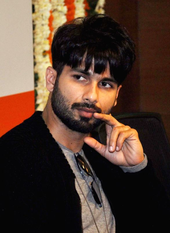 Actor Shahid Kapoor during a programme in Gurgaon, on Jan 13, 2015.