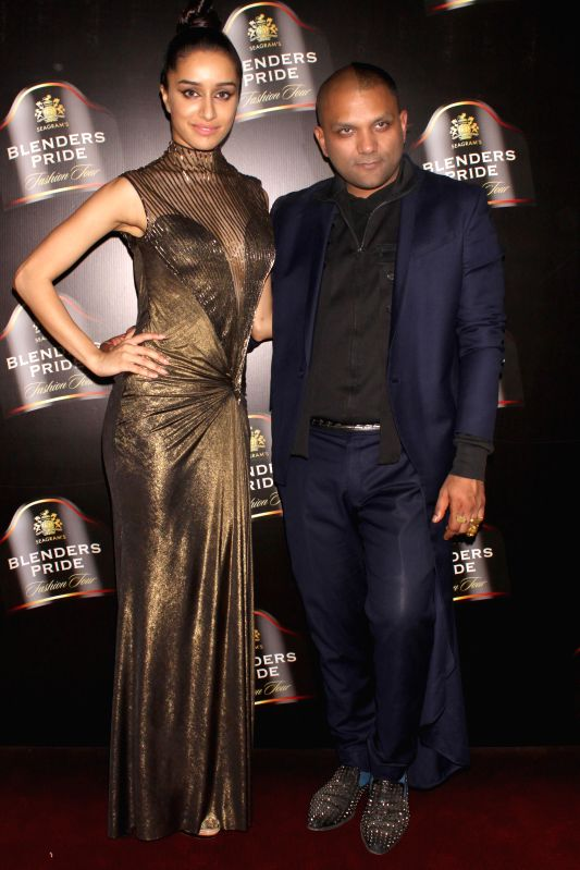 Actress Shraddha Kapoor durig designer Gaurav Gupta show at the Blenders Pride Fashion Tour 2014, in Gurgaon on November 24, 2014. - Shraddha Kapoor