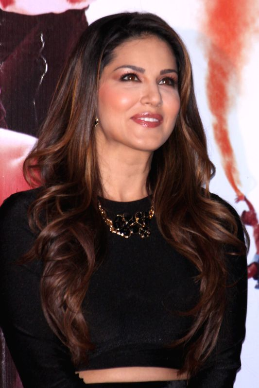 Actress Sunny Leone during the promotion of film `Ek Paheli Leela`, in Gurgaon on April 7,2015.