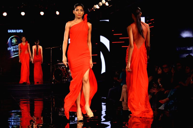 Designer Gaurav Gupta show at the Blenders Pride Fashion Tour 2014 , in Gurgaon on November 24, 2014.