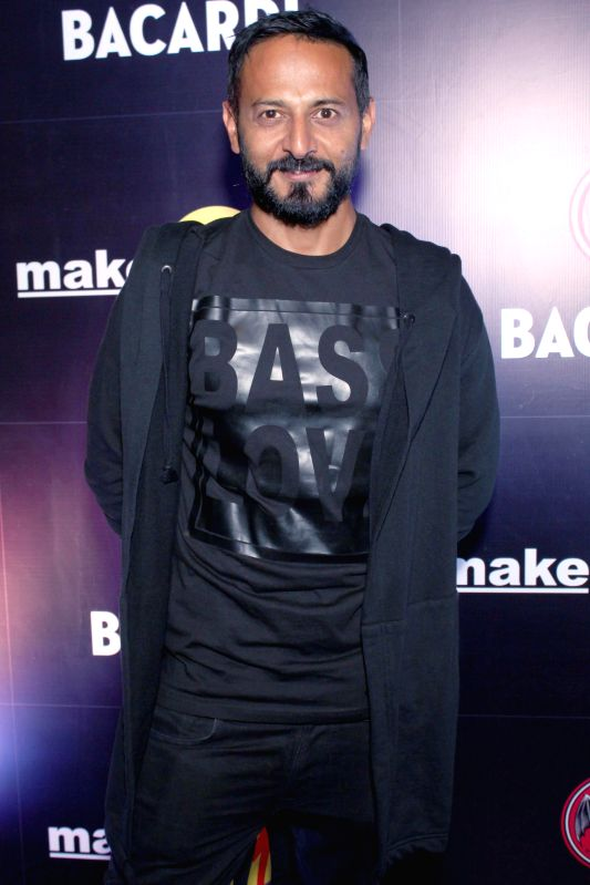 DJ Nikhil Chinapa during BACARDI Goa hangout party at Hard Rock Cafe in Gurgaon, on December 06, 2014.