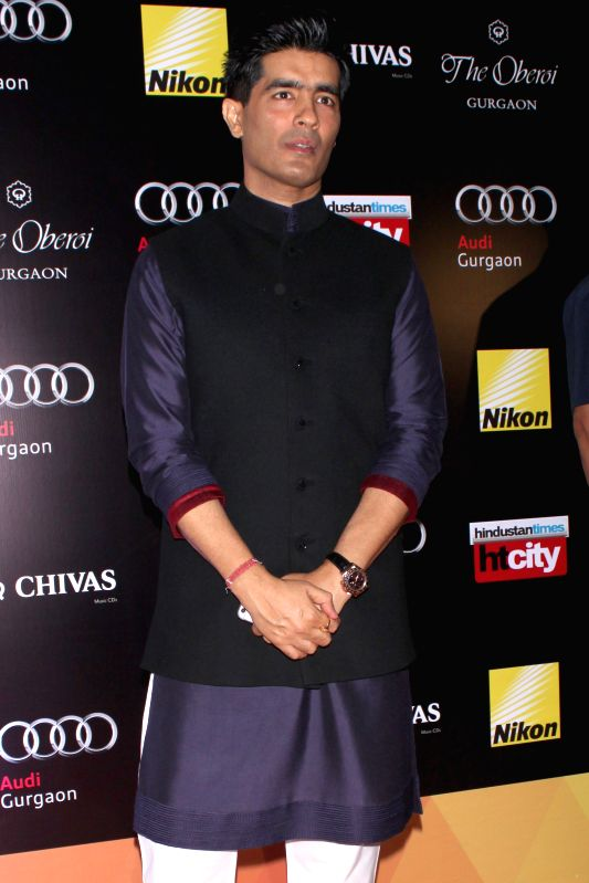Fashion designer Manish Malhotra during Hindustan Times Delhi`s Most Stylish Awards 2015, held in Gurgaon, on May 2, 2015. - Manish Malhotra
