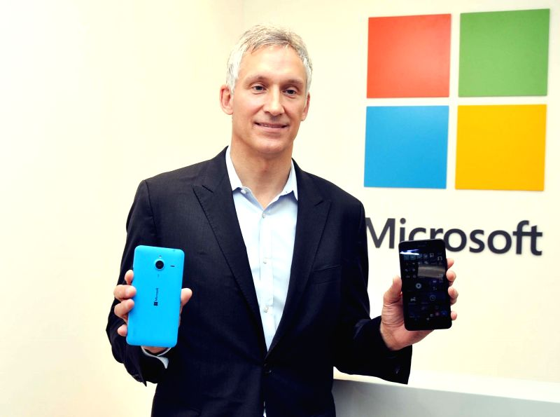 Microsoft Mobile Device Sales corporate vice president Chris Weber at the launch of Microsoft priority reseller store at a Gurgaon mall on April 28, 2015.