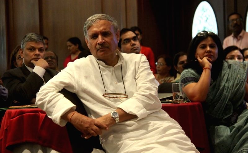 Gurgaon MP Rao Inderjit Singh during a programme organised to discuss Deteriorating Air Quality: Concerns and Solutions in Gurugram, on June 1, 2017. - Rao Inderjit Singh