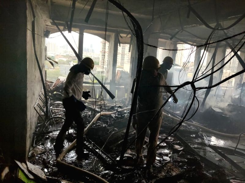 Gurugram: Fire breaks out in DLF phase-4 building, no casualties reported