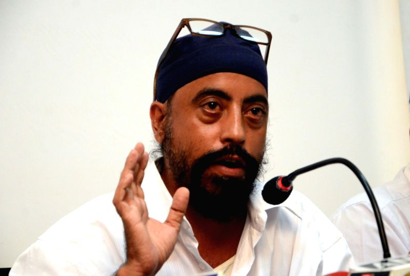 Gurupreet Singh Anand, the original complainant in the QNet multi-level marketing (MLM) scam addresses a press conference in Mumbai, on May 18, 2016. - Gurupreet Singh Anand