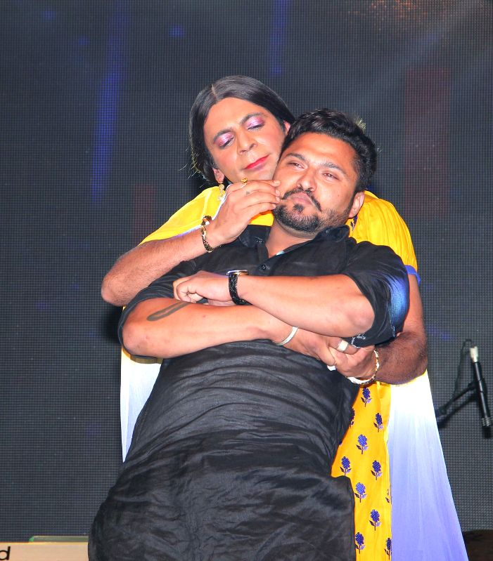 Gutthi during the Baisakhi celebrations organized by the Punjabi Cultural Heritage Board in Mumbai on April 11, 2014.