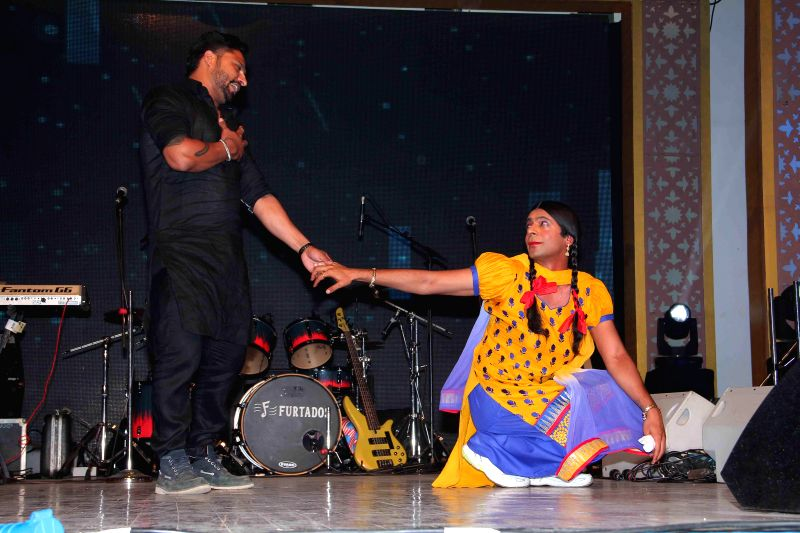Gutthi during the Baisakhi celebrations organized by the Punjabi Cultural Heritage Board in Mumbai on April 11, 2014.