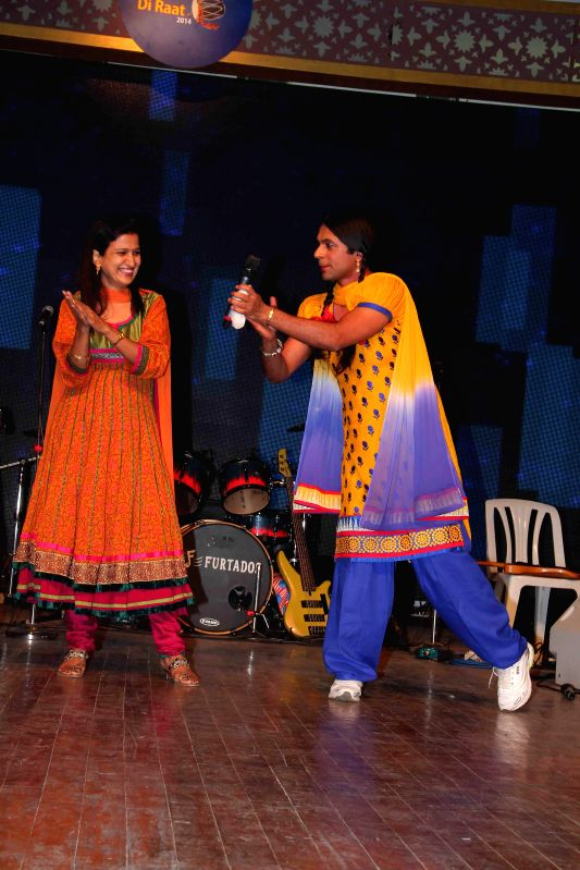 Gutthi Gidda during the Baisakhi celebrations organized by the Punjabi Cultural Heritage Board in Mumbai on April 11, 2014.