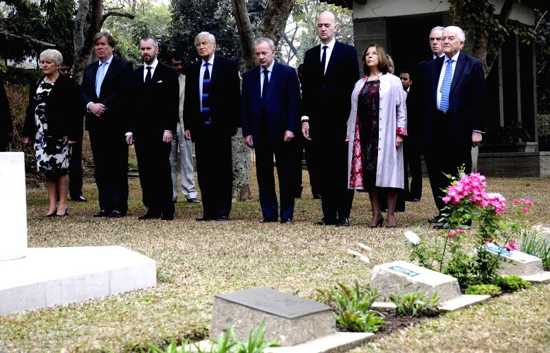 A British delegation on a two day trip to Guwahati visits the Guwahati War Cemetery to pay tribute to the war heroes of the Second World War on Feb 19, 2015.