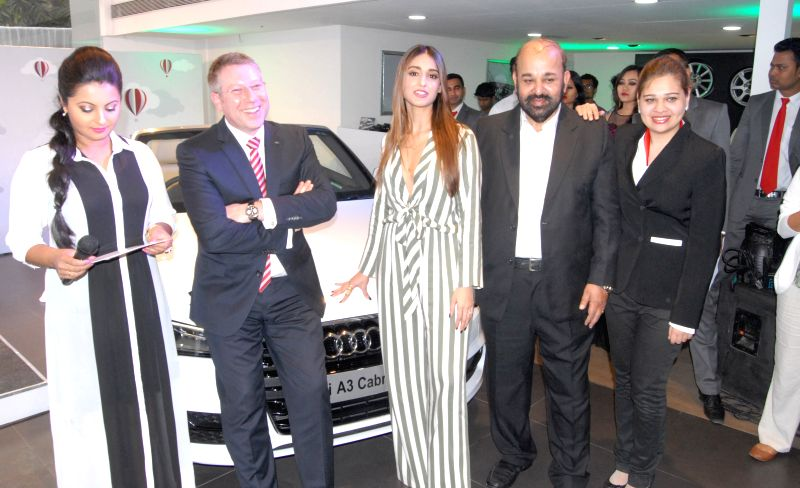 Audi India Head Joe King and actress Ileana D'Cruz at the launch of an Audi  showroom in Guwahati, on March 24, 2015.