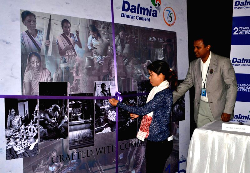 Boxer M.C. Mary Kom during the release of a 2015 calender in Guwahati on Jan 12, 2015.