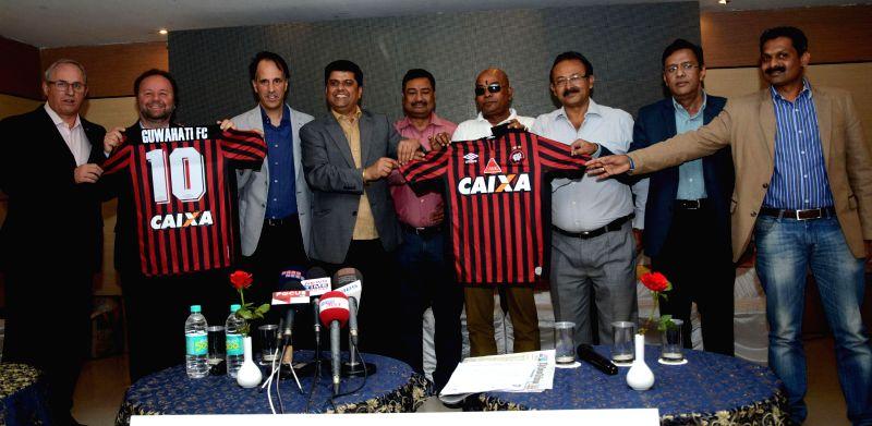 Guwahati FC, co-owner Sanjive Narain, Anglian Management group, CEO Dhruv Ratra, Clube Atletico Paranaense director, Luiz Greco, Assam Football Association, president Ankur Dutta and other ...