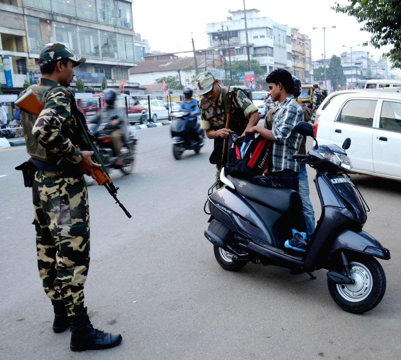 Security beefed-up in Guwahati ahead of Prime Minister Narendra Modi's  visit, on Nov 28, 2014. - Narendra Modi