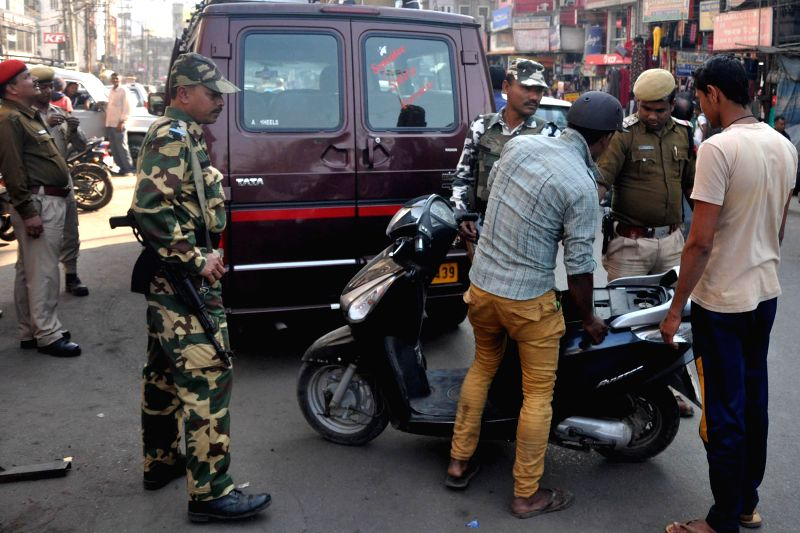 Security beefed-up in Guwahati ahead of Republic Day on Jan 21, 2015.