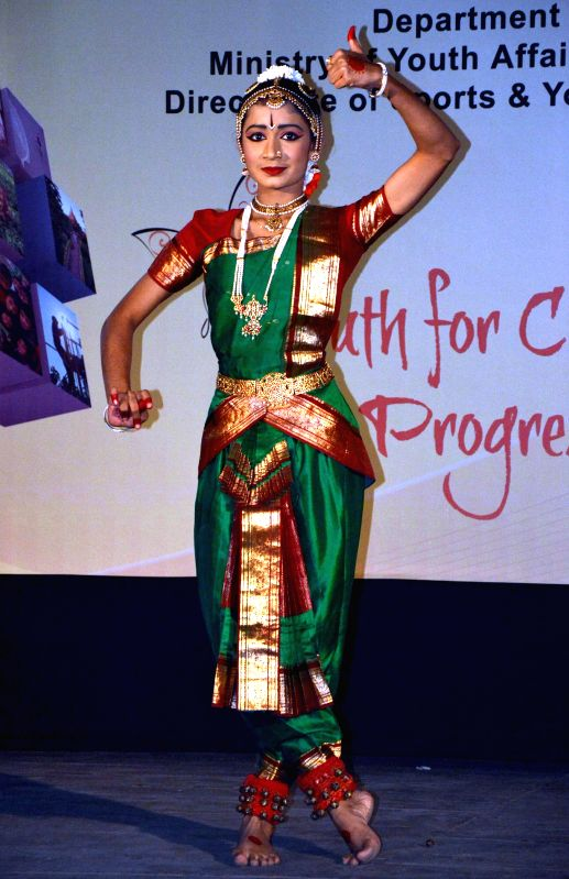 Suti Pujari from Maharahtra performs Bharatanatyam during the ongoing 19th National Youth Festival 2015 in Guwahati, on Jan 9, 2015.