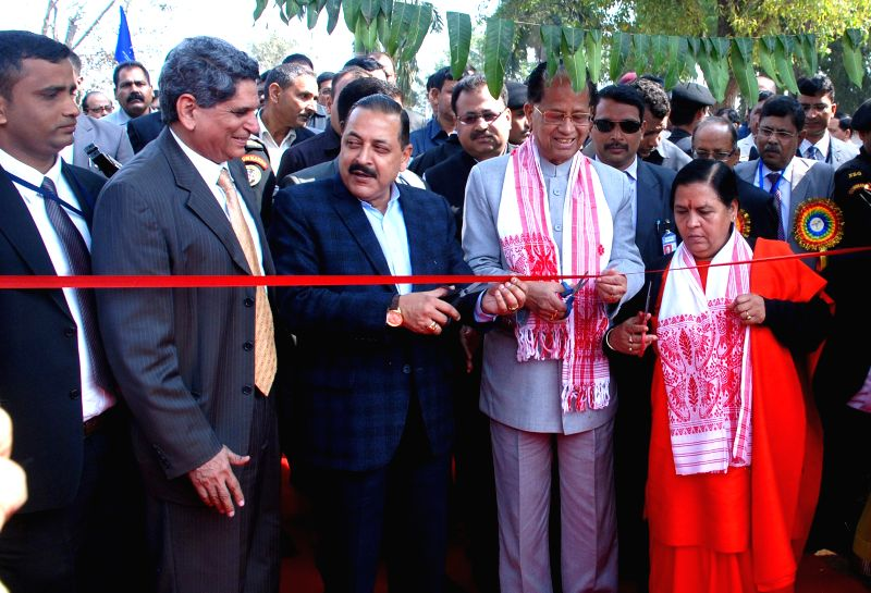 The Union Minister for Water Resources, River Development and Ganga Rejuvenation Uma Bharti, Development of North Eastern Region (DoNER) Minister Jitendra Singh and Assam Chief Minister ... - Jitendra Singh