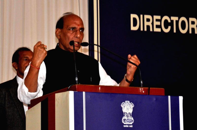 Union Home Minister Rajnath Singh addresses at the inaugural programme of All India conference of Director General/Inspectors General of Police in Guwahati on Nov 29, 2014.
