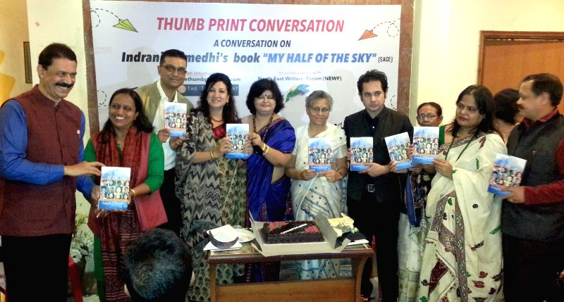 Writer, columnist, journalist Indrani Raimedhi at the launch of her new book `My Half of The Sky`  in Guwahati on Dec 11, 2014.