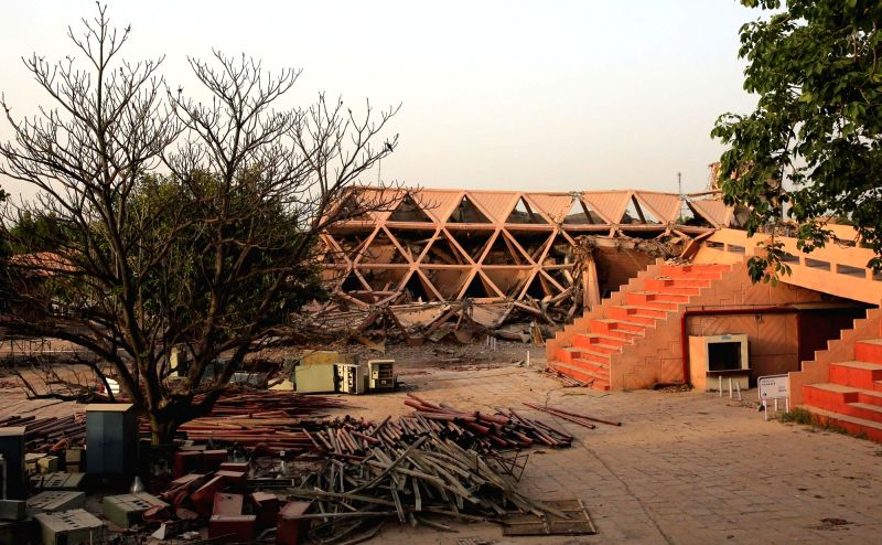 Hall of Nations, that was built to celebrate 25 years of Independence by renowned architect Raj Rewal being demolished after the Delhi High Court dismissed a petition filed by the ...