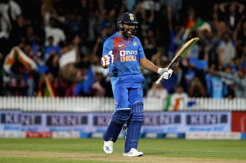 Hamilton: India's Rohit Sharma reacts after India chased down New Zealand's score of 17 to win the third T20I and take an unassailable 3-0 lead in the five-match T20I series, at Seddon Park in Hamilton, New Zealand on Jan 29, 2020. (Photo: IANS)
