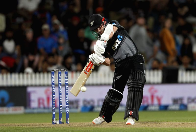 Hamilton: New Zealand captain Kane Williamson in action during the third T20I of the five-match rubber between India and New Zealand at Seddon Park in Hamilton, New Zealand on Jan 29, 2020. (Photo: IANS)