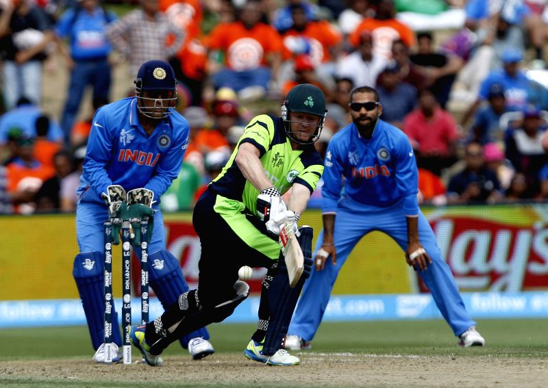 Hamilton (New Zealand):Ireland player NJ O'Brien in action during an ICC World Cup - 2015 match against India at the Seddon Park in Hamilton, New Zealand  on March 10, 2015.