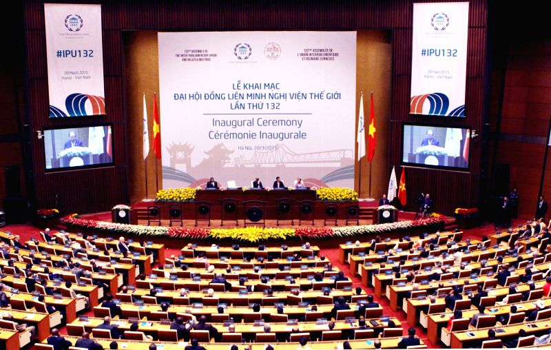 The 132nd Assembly of the Inter-Parliamentary Union is held in Hanoi, Vietnam, March 28, 2015.