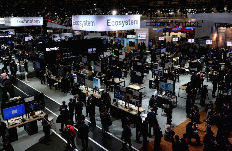 HANOVER, March 20, 2017 - Photo taken on March 20, 2017 shows a view of the CeBIT 2017 in Hanover, Germany. The world's leading trade fair showcasing IT and communications products and solutions ...