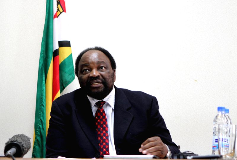 Zimbabwean Foreign Affairs Minister Simbarashe Mumbengegwi addresses the media in Harare, Zimbabwe, July 16, 2014. Mumbengegwi announced that Zimbabwe will host the .