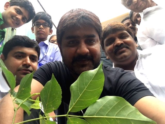 Haritha Haram by Srikanth and Mayor Bonthu Ram Mohan at Jubilee Hills Public School.
