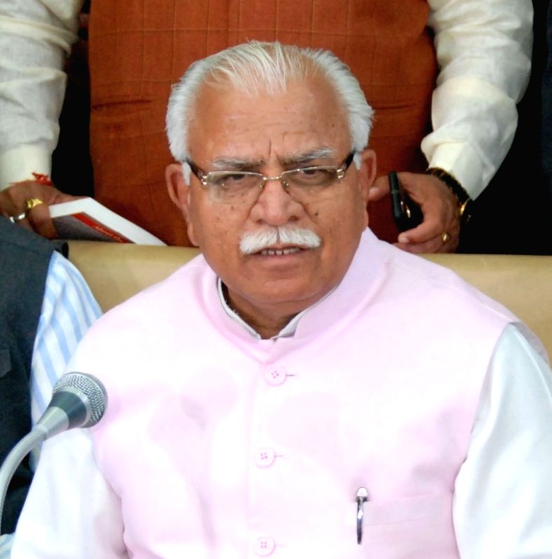Haryana Chief Minister Manohar Lal Khattar. (File Photo: IANS)