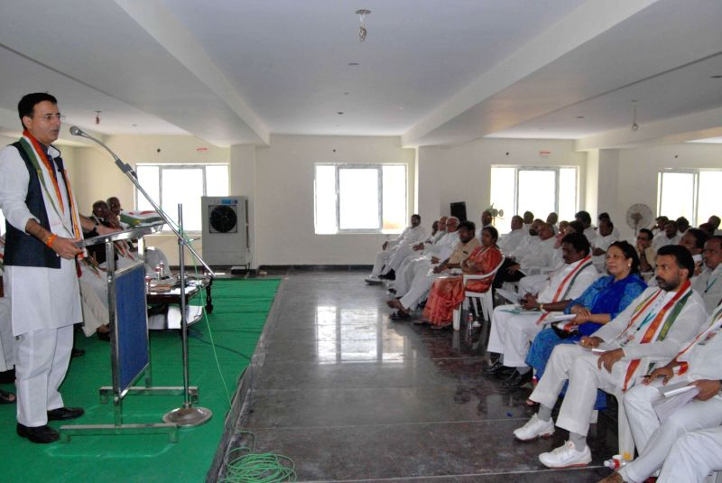 Hyderabad : Randeep Singh Surjewala speaks on Land ...