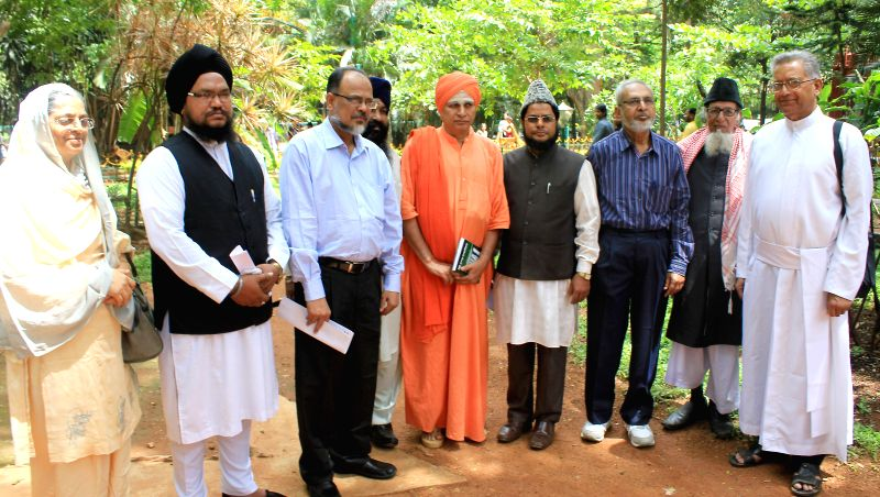 Heads of Multi religious during a press conference regarding rising incidence of sexual offences against women at Press club in Bangalore on July 24, 2014.