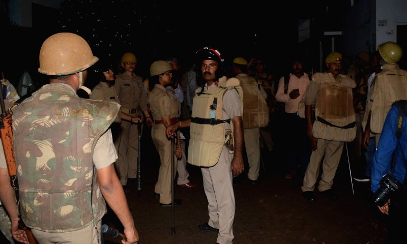 Heavy force had been deployed after tension erupts at Gomtinagar due to a religious programme organised at Pragya Park in Lucknow on July 19, 2016.