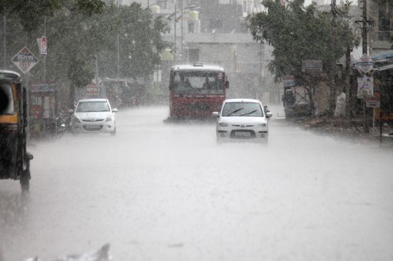 Heavy rains lash Nagpur on May 27, 2017.
