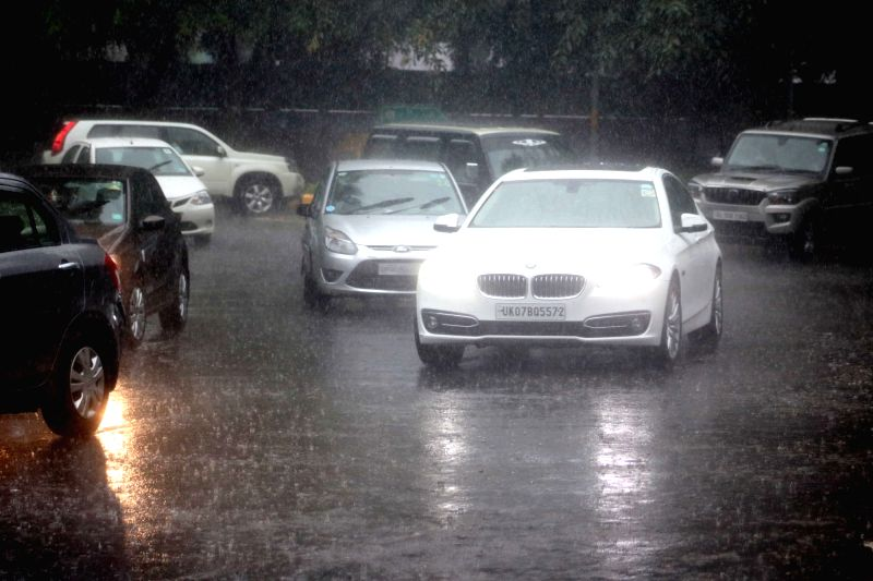 Heavy rains lash New Delhi on Aug 9, 2016.