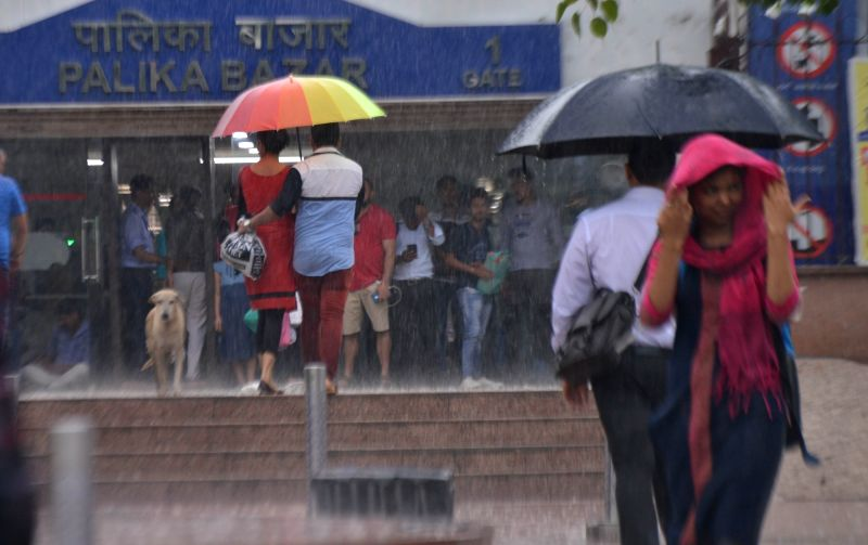 Heavy rains lash New Delhi, on July 13, 2018.