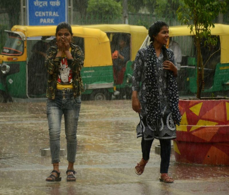 Heavy rains lashed New Delhi, on July 13, 2018.