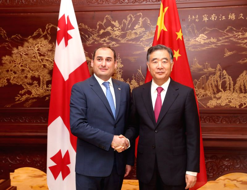 HEFEI, May 17, 2017 - Chinese Vice Premier Wang Yang meets with Georgian First Vice Prime Minister and Minister of Finance Dimitry Kumsishvili, who is in China to attend Expo Central China 2017, in ...