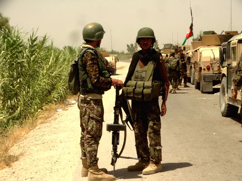 HELMAND, Aug. 10, 2016 - Soldiers take part in a military operation against of Taliban in Helmand province, Afghanistan, Aug. 10, 2016. The Taliban's former stronghold in the southern Helmand ...