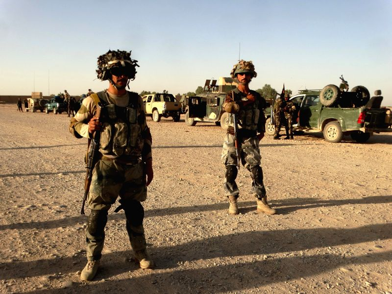 HELMAND, July 24, 2016 - Members of Afghan security forces take part in a military operation in Sangin district of southern Helmand province, Afghanistan, on July 23, 2016. Some 53 militants have ...