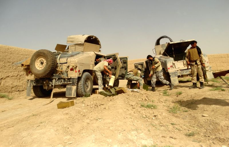 HELMAND, May 12, 2016 - Soldiers take part in a military operation in Nahr-e-Saraj district of Helmand province, Afghanistan, May 11, 2016. Some 18 Taliban militants were killed during a military ...