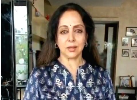 Hema Malini quashes rumours of ill health in video post.