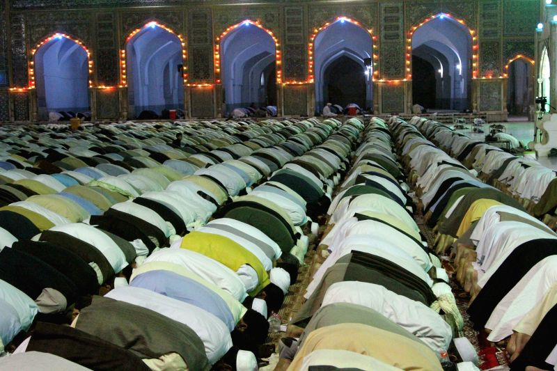 HERAT, June 8 Afghan men pray at a mosque during the holy month of Ramadan in Herat, western province of Afghanistan, June 7, 2017.