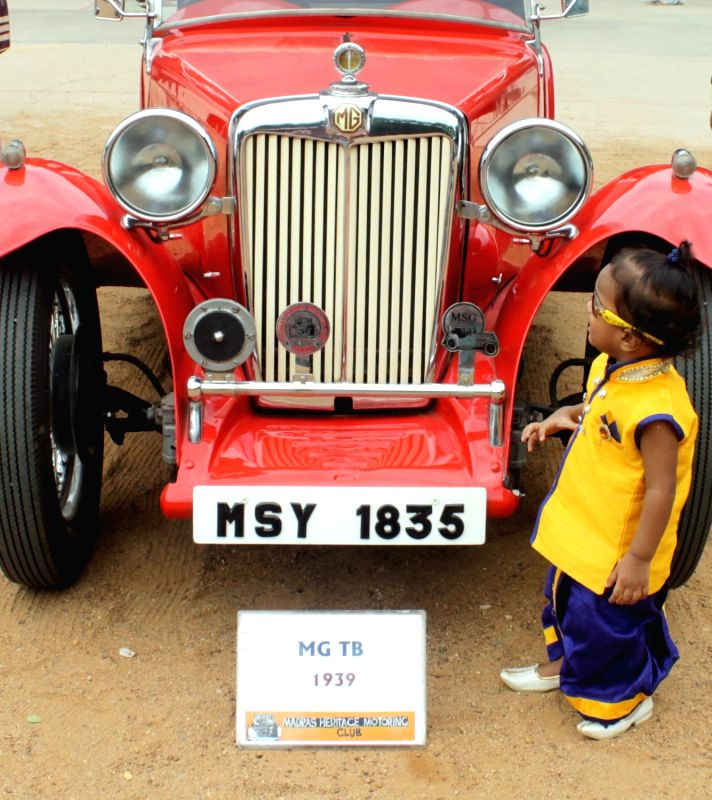 Heritage cars exhibited during an exhibition organised in Chennai on July 31, 2016.