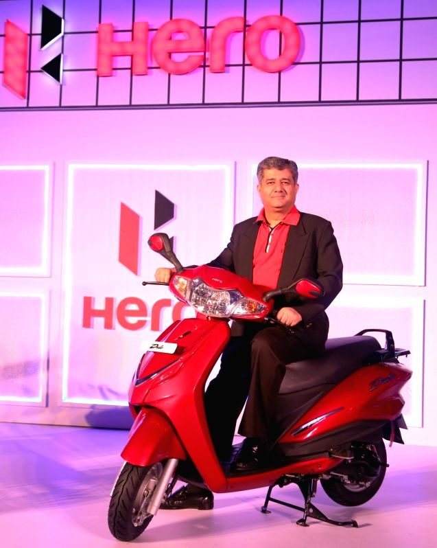 Hero MotoCorp Head of Sales, Marketing and Customer Care Ashok Bhasin during the launch of Hero`s Duet scooter in Bengaluru on Oct 28, 2015.