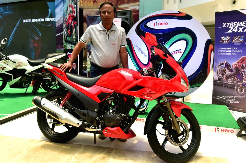 Hero MotoCorp introduced three new hi-end bikes, 150cc Xtreme, 220cc Karizma and 220cc Karizma ZMR in Chennai on June 28, 2014.