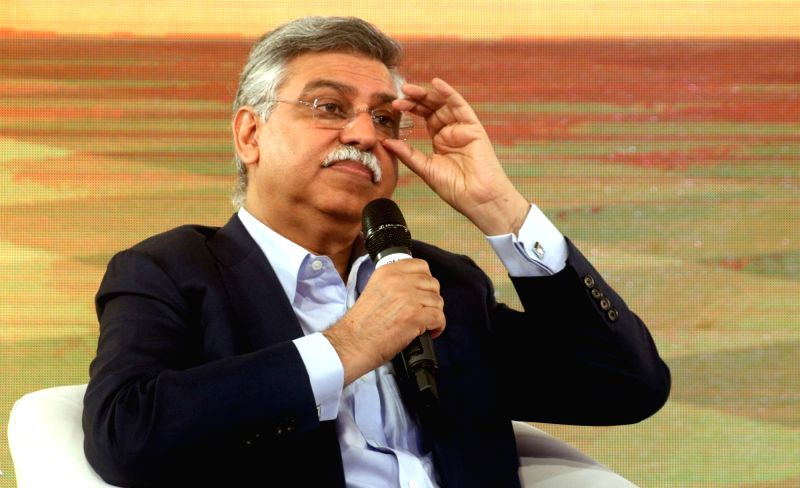 Hero MotoCorp Joint Managing Director Sunil Kant Munjal addresses during Mindmine Summit 2017 in New Delhi, on April 21, 2017.