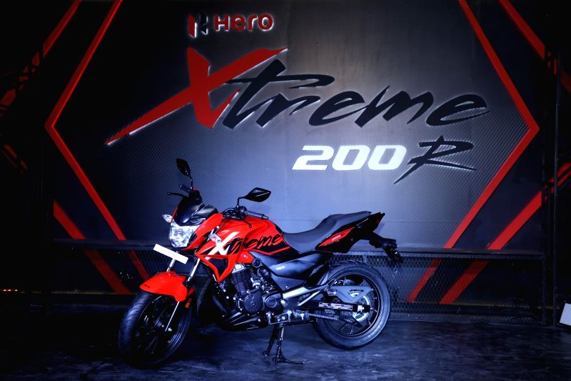 Hero MotoCorp Ltd unveils the 'Xtreme 200R' in New Delhi on Jan 30, 2018.